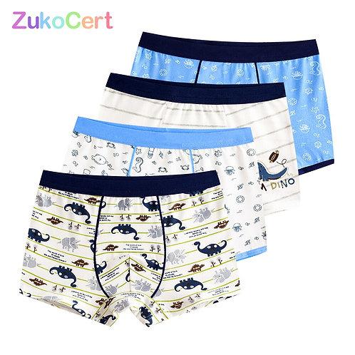 4 Pcs/Lot Pure Color Kids Boys Girls Underwear Shorts  Boxer