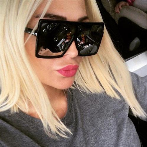 2021 Plastic Oversized Women Sunglasses Square Brand Designer Big Frame Glasses