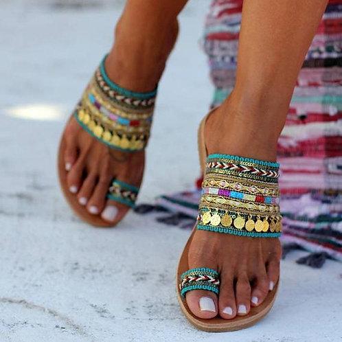 Artisanal Sandals Flip-Flops Handmade Greek Style Boho Flip Flop Sandals