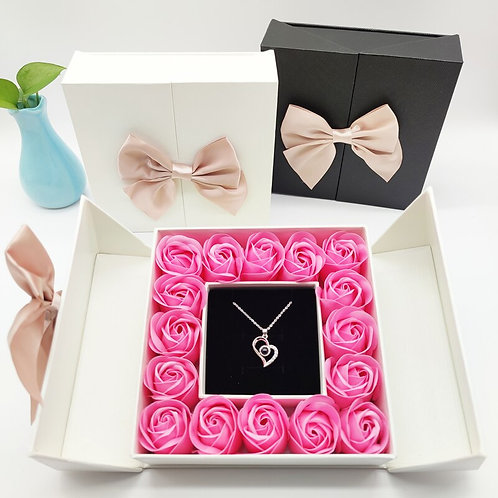 2021 ROSE SPACE Rose Flower Mother's Day Gift Propose Artificial Flowers Jewelry