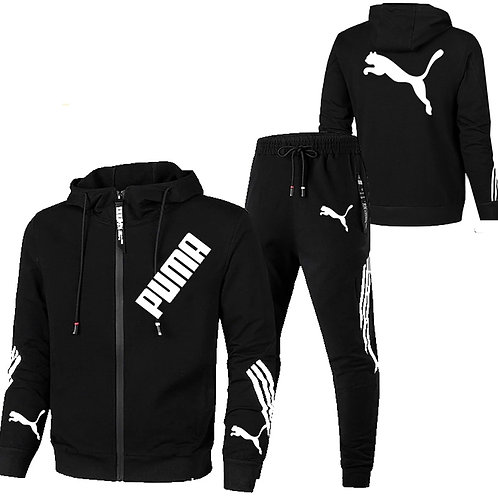 Brand Puma Men 2set Piece Men Winter Jacket Casual Zipper Jackets