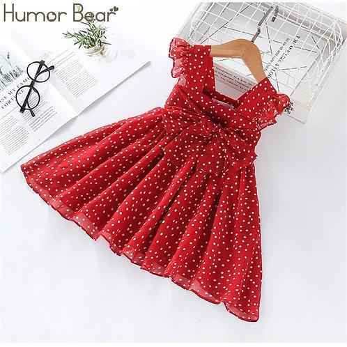 Dress SummerBrand New Dress for Girls Sleeveless Chiffon Polka Dot Dress