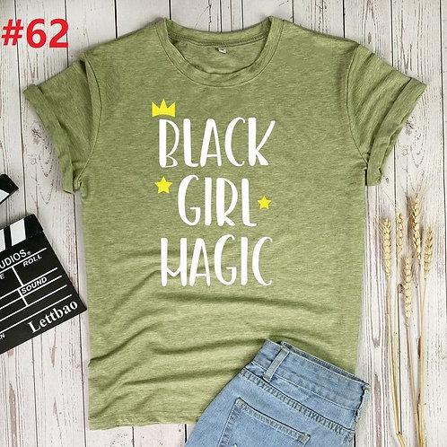 Black Girl Magic Women Tshirt Custom Logo Summer Crew Neck Tie Dye Cotton
