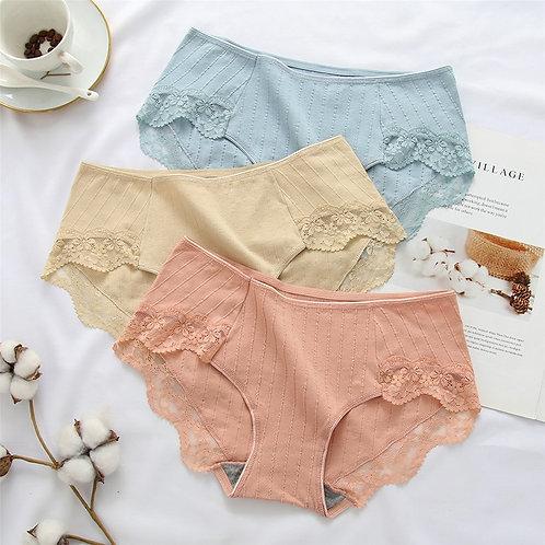 3Pcs New Cotton Panty Solid Women's Panties  Comfort  Underwear  Sexy
