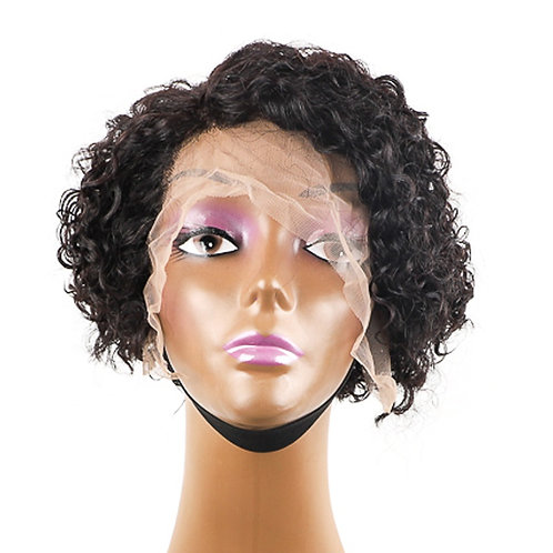 8 Inch  Lace Wig Pre Plucked Pixie Cut Virgin Hair for Black  100% Human