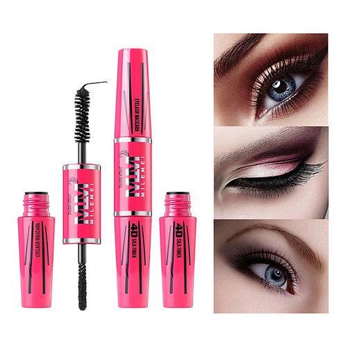 4D Silk Fiber Lash Mascara Waterproof Rimel 3d Mascara for Eyelash Extension Bla