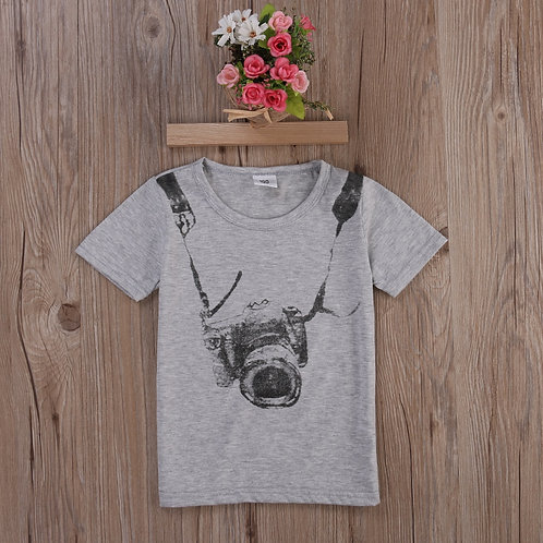 1pcs Boys Casual Camara T-Shirts Baby  Fashion T-Shirt
