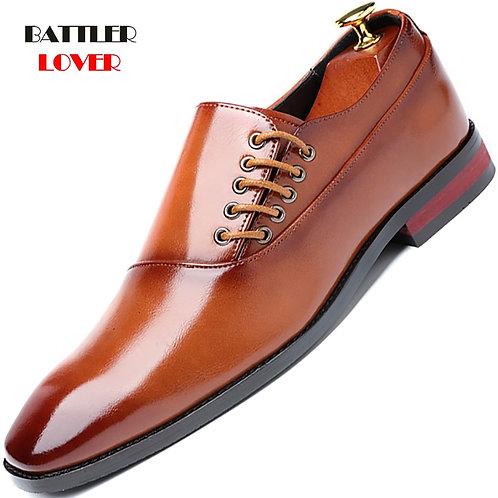 2019 Men's Dress Shoes Japanese Formal Business Oxfords Vintage Men Elegant