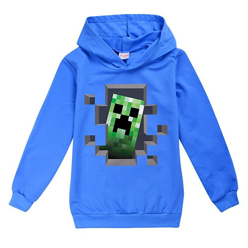 Boys Minecrafting Sweatshirt for Kids Spring Autumn Hoodies Cotton Tops T-Shirts