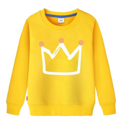 Boys Hoodies Print Crown Autumn Spring Winter Outwear...