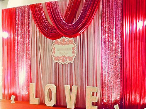 2021 New Design Sequin Swags Wedding Backdrop Curtain Event Party Celebration
