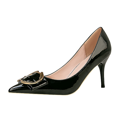 China Stilletoes Sexy Girls Female Women Black High Heel Shoes