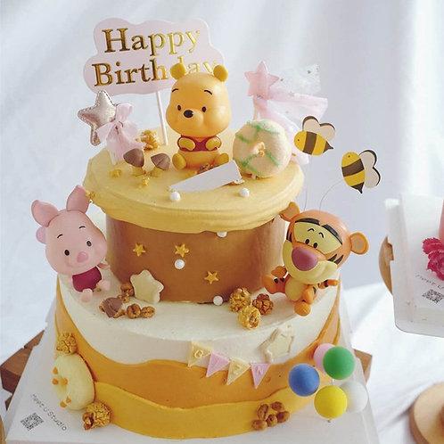 Disney Children's Birthday Cake Decoration Winnie the Pooh Piglet Pig
