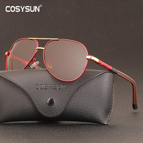 COSYSUN Vintage Aluminum Men Polarized Sunglasses Male Classic Brand Sun Glasses