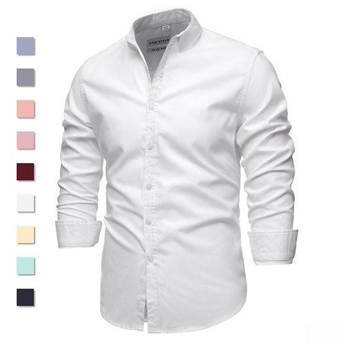 Cotton Oxford Shirt Men Spring Casual Men Shirt Long Sleeve  Slim fit