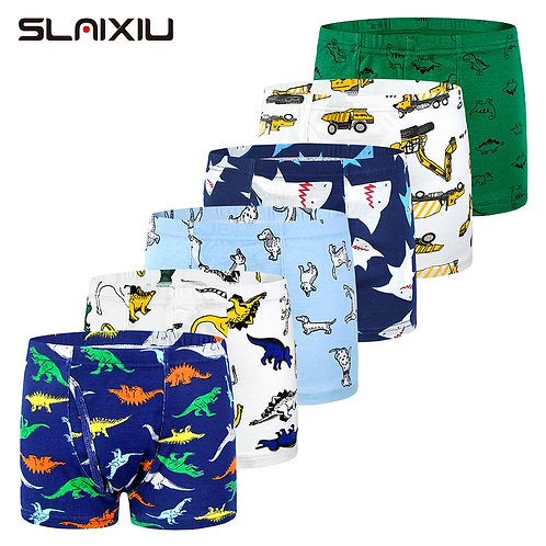 6-Pack Shorts Boys Underwear Kids Boxer Panties for 2-10 Years Soft
