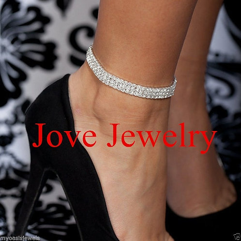 2017 New Arrived Charm Silver Plated Jewelry for Women Trendy Bead Anklets for W