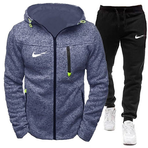 2 Piece Set Fashion Hoody Mens Sweatshirt Sport Joggers