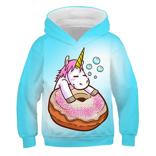 2020 Fashion Kids Unicorn Hoodies More Color Tops Coat Polyester