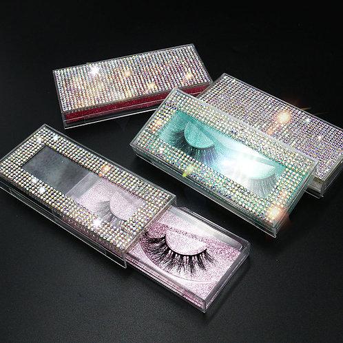Diamond Lash Packaging 10pcs/Lot Rhinestone Eyelash Boxes Mink Eyelashes