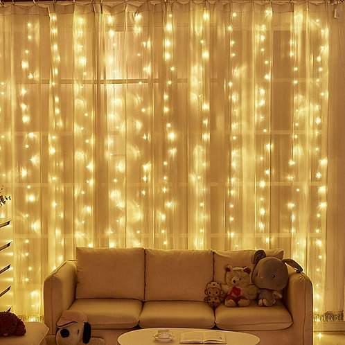 3x3/6x3m  Garlands LED Wedding Fairy String Light Party Curtain Decoration