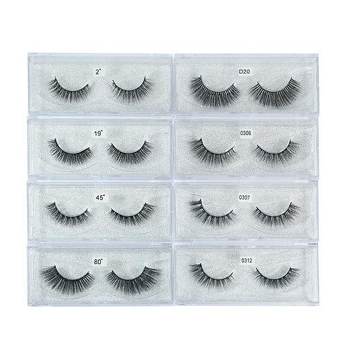 10 Pairs/Lot 3D Mink Soft Lashes Full Strip Eyelash Natural Charming Volume