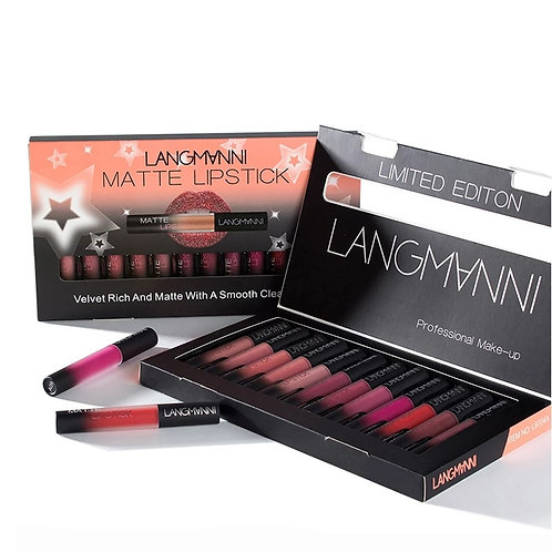 4/12pcs/Lot Ultra Matte Velvet Sexy Set  Lip Waterproof Long Lasting Lip Stick