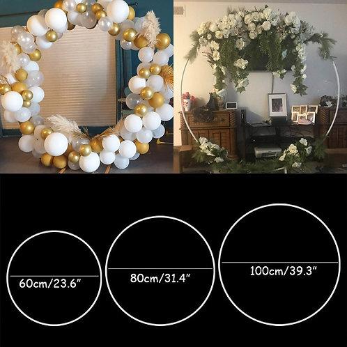 60/80/100cm Plastic Artificial  Wreath Frame Wedding Decoration DIY Arch Bow