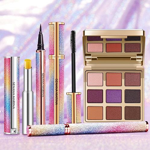 Cosmetics Kit,Magic Eyeshadow,Waterproof Mascara, Lipstick, Soft Smooth Eyelash