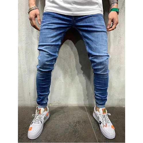 Classic Fashion Designer Denim Skinny Jeans Men's Casual High Quality Slim Fit