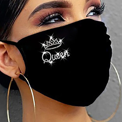 Bling Sequin  for Women Girl Ice Silk Face Cover Rhinestone Luxury Mouth-Muffle