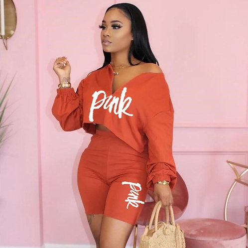 2 Piece Set Women Tracksuit Summer Casual Outfits Loose Top Biker Shorts