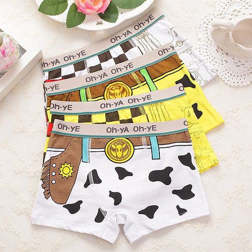 Boy Boxer Boy Underwear 4 Pcs/Lot Boy Underwear Kids Panties Child's Underpants