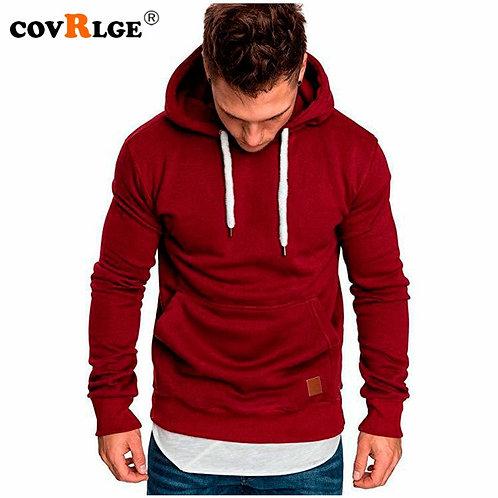 Covrlge Mens Sweatshirt Long Sleeve Autumn Spring Casual Hoodies Top Boy Blouse