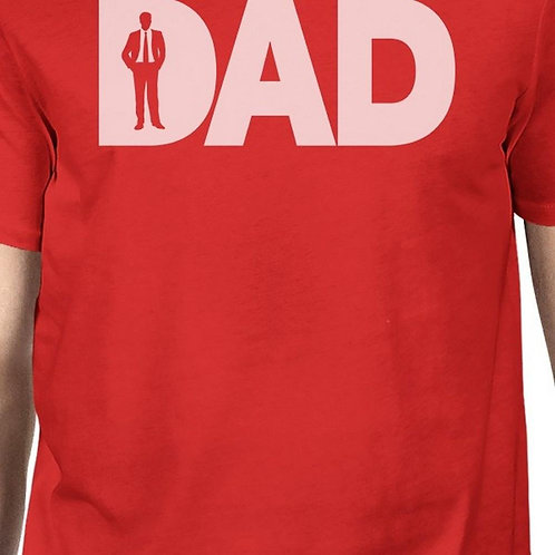 Dad Business Red T-Shirt for Men Cotton Round Tee Gifts for Father