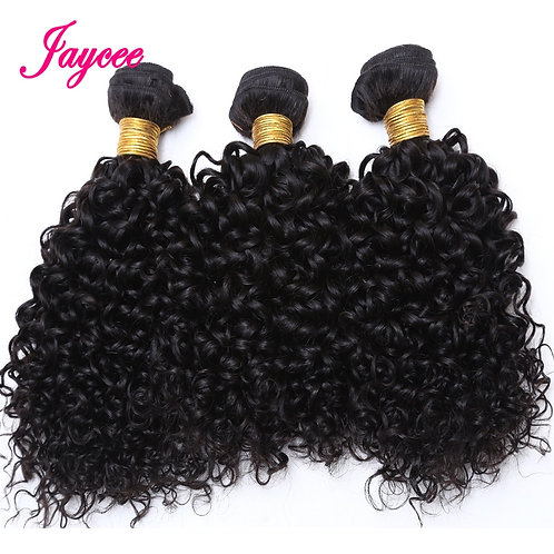 10a Mongolian Kinky Curly Hair Extension 1/3 Bundles Human Hair Weave Tissage Ch