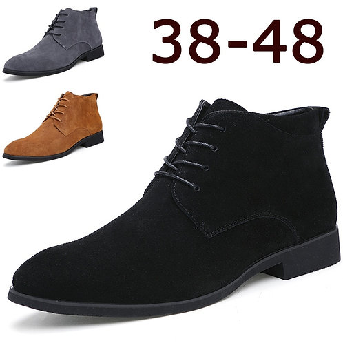 Boots for Men Business Chukka Mens Boots High Top Leather Mens Winter Shoes Male