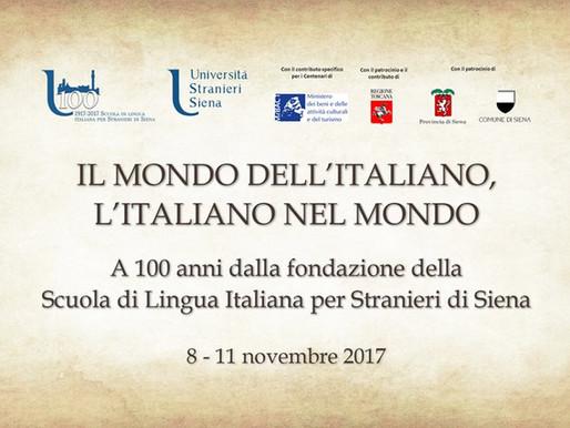 Centenario Università per Stranieri di Siena