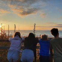Sunset at Tresaith Beach