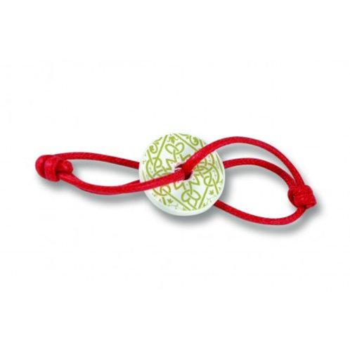 Bracelet à parfumer | Rouge | Motif doré