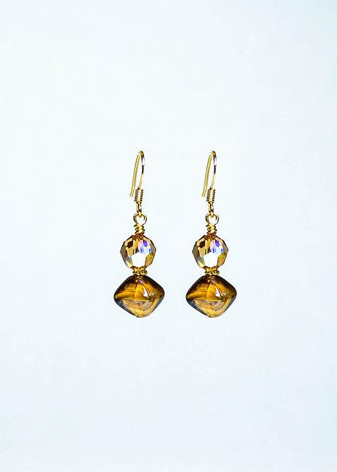 Swarovski and Vintage German Drop Earring