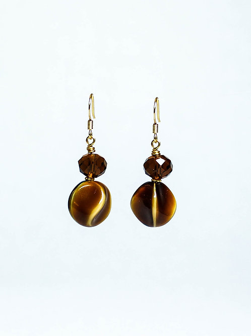 Vintage German and Glass Drop Earring