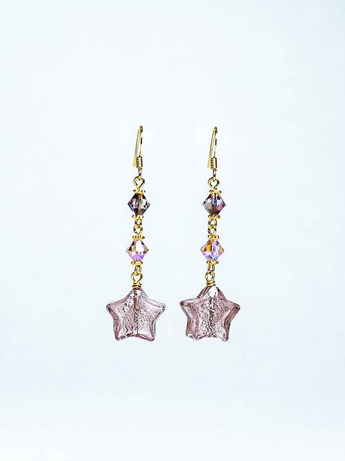 Swarovski Crystal and Lampwork Drop Earring