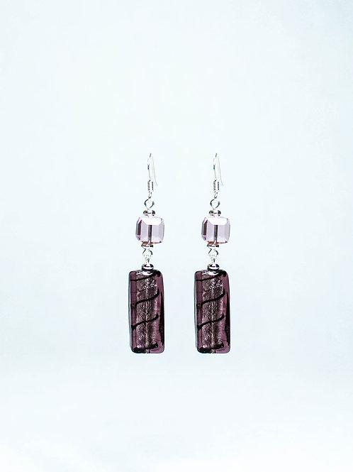 Swarovski Crystal and Lampwork Drop Earrings