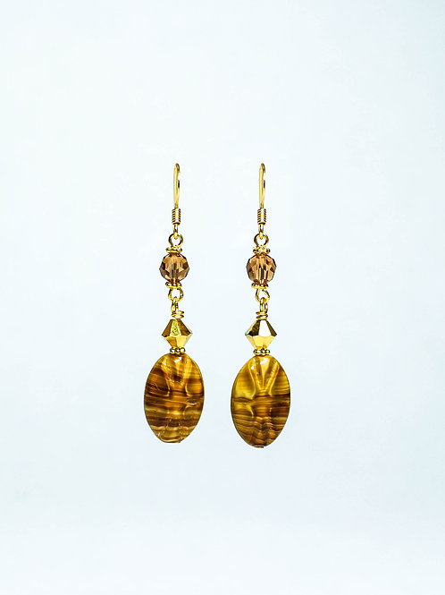 Swarovski and Vintage German Drop Earring