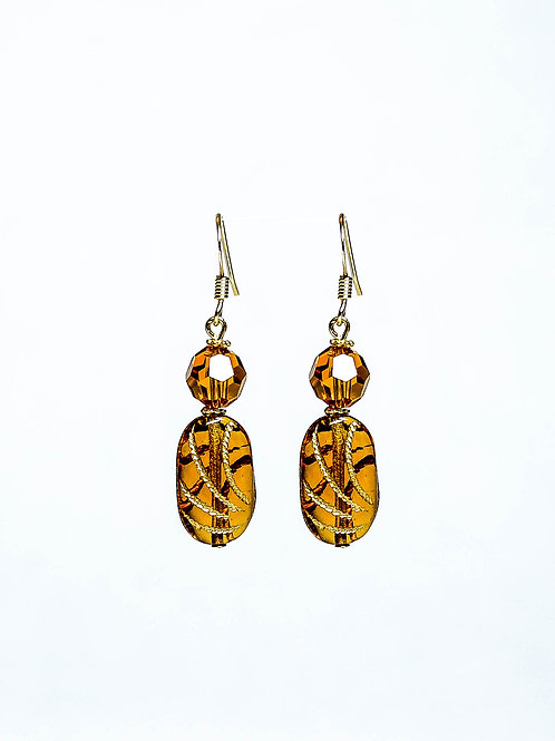 Swarovski Crystal and Vintage German Drop Earring