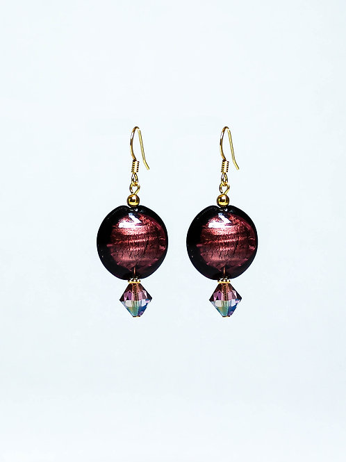 Swarovski Crystal and Lampwork Drop Earring
