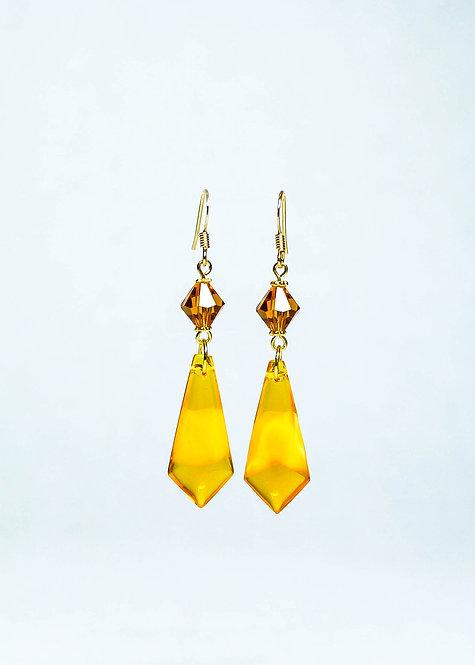 Swarovski Crystal and Vintage German Drop Earring
