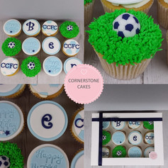 Football Supporters Cupcakes