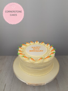 Rustic Buttercream Carrot Cake